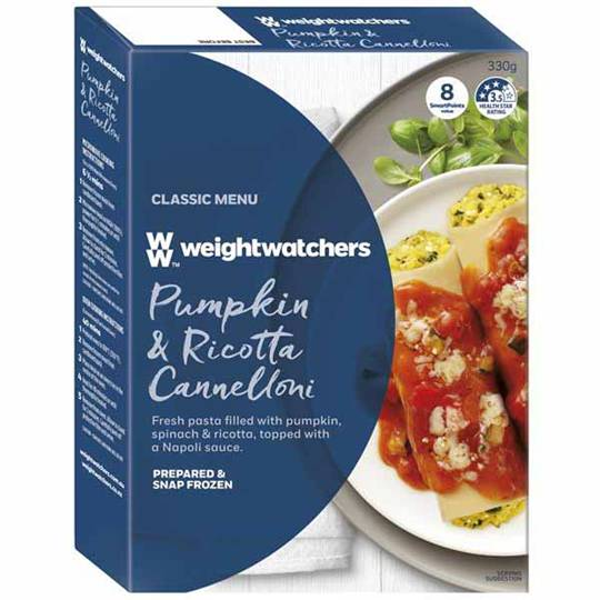 Weight Watchers Cannelloni Pumpkin Ricotta