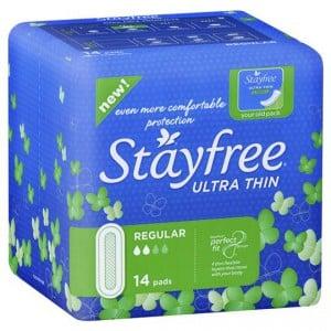 Stayfree Pads Ultra Thin Regular