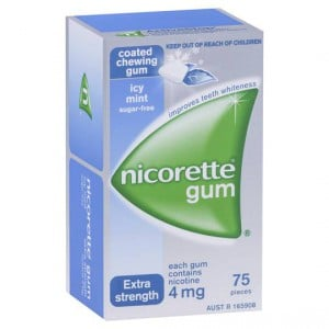 Nicorette Quit Smoking Gum Icy Mint 4mg
