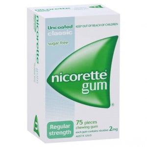 Nicorette Quit Smoking Gum Classic Reg Strength 2mg