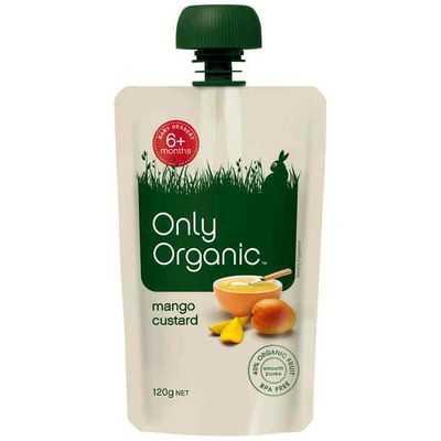 Only Organic 6 Months Mango Custard