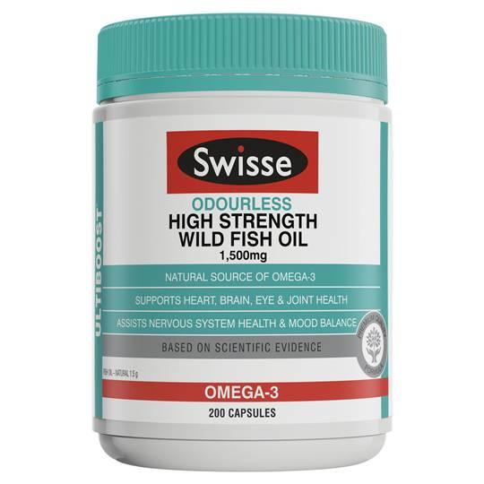 Swisse Ultiboost Odrls Hi-strength Fish Oil 1500mg Caps