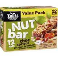 Tasti Nut Bar Value Pack Choc Apricot Coconut & Cashew
