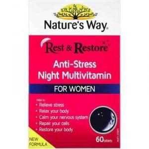 Nature's Way Rest & Restore Night Multivitamin For Women