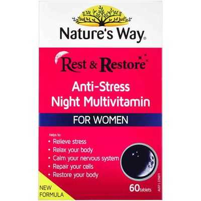 Nature's Way Rest & Restore Night Multivitamin For Women