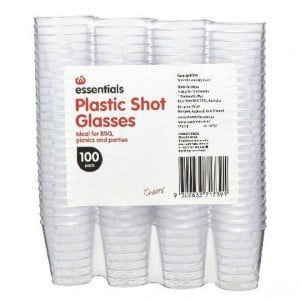 Essentials Shot Glasses Plastic