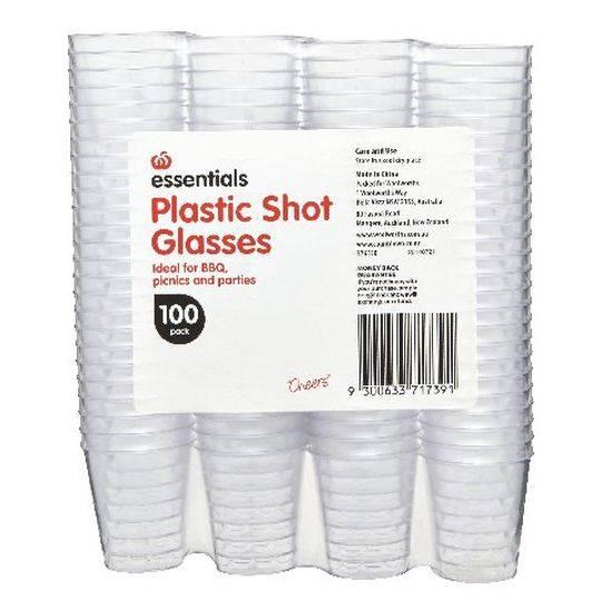 Essentials Shot Glasses Plastic