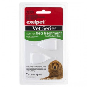 Exelpet Vet Series Treatment Spot On Flea Medium Dog
