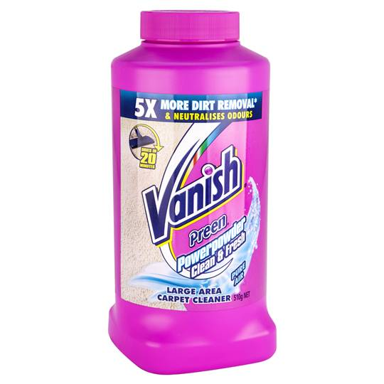Vanish Preen Floor Carpet Cleaner Power Powder