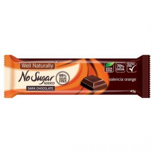 Well Naturally No Sugar Added Choc Orange Bar