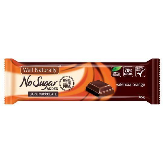 Well Naturally No Sugar Added Choc Orange Bar