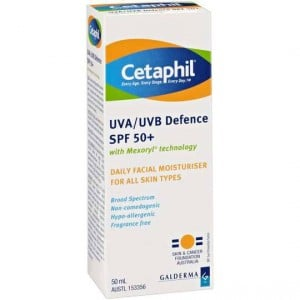 Cetaphil Facial Moisturiser Uva/uvb Spf 50+ All Types