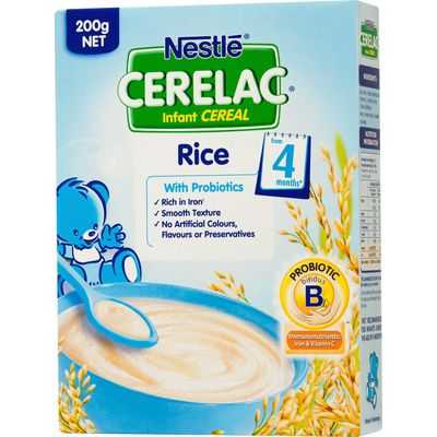 Nestle Cerelac Food 4 Months Rice With Probiotics
