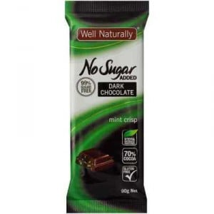 Well Naturally Bars Mint Chocolate Sugar Free
