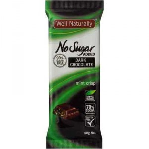 Well Naturally Bars Mint Chocolate Sugar Free