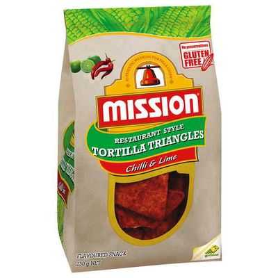 Mission Corn Chips Chilli & Lime