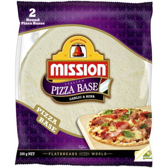 Mission Round Pizza Bases Garlic