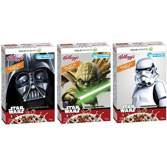 Kellogg's Star Wars Cereal Chocolate Flavoured Shapes