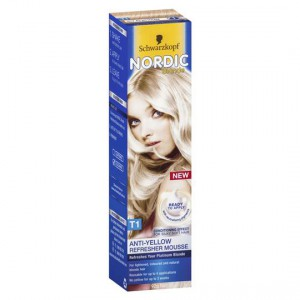 Scharzkopf Nordic Blonde Hair Colour T1 Refresher Mousse