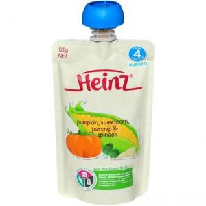Heinz Pouch Pumpkin, Sweet Corn Parsnip & Spinach