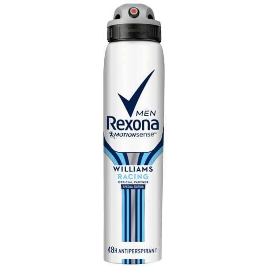 Rexona Men Williams Racing Aerosol Deodorant Antiperspirant