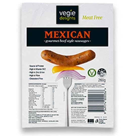 Vegie Delight Mexican Sausage Gourmet