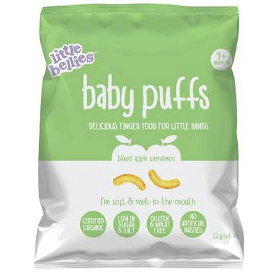 Little Bellies Baby Puffs Baked Apple & Cinnamon