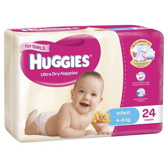 Huggies Ultra Dry Infant Girls
