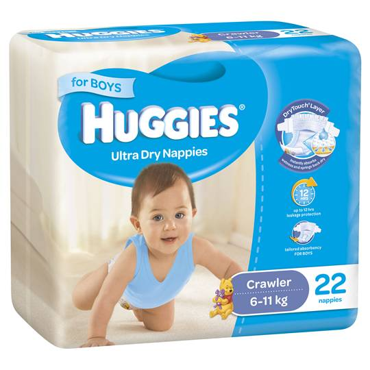 Huggies Ultra Dry Crawler Boys