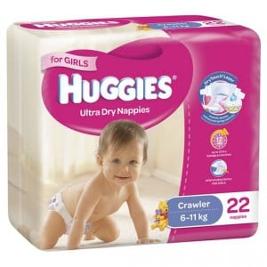 Huggies Nappies Ultra Dry Crawler Girls