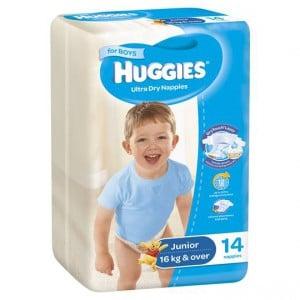 Huggies Nappies Ultra Dry Junior Boys
