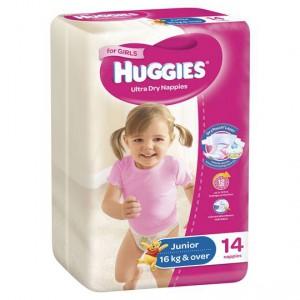 Huggies Nappies Ultra Dry Junior Girls