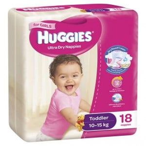 Huggies Nappies Ultra Dry Toddler For Girls