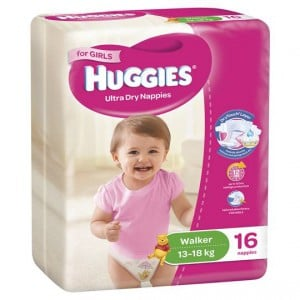 Huggies Nappies Ultra Dry Walker For Girls