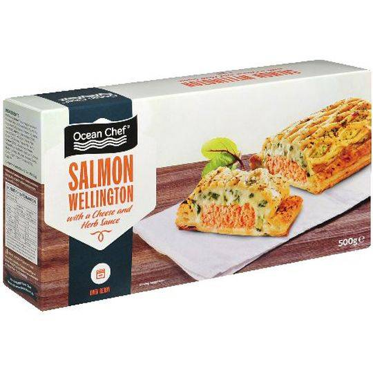 Ocean Chef Salmon Wellington With Cheese & Herb Sauce