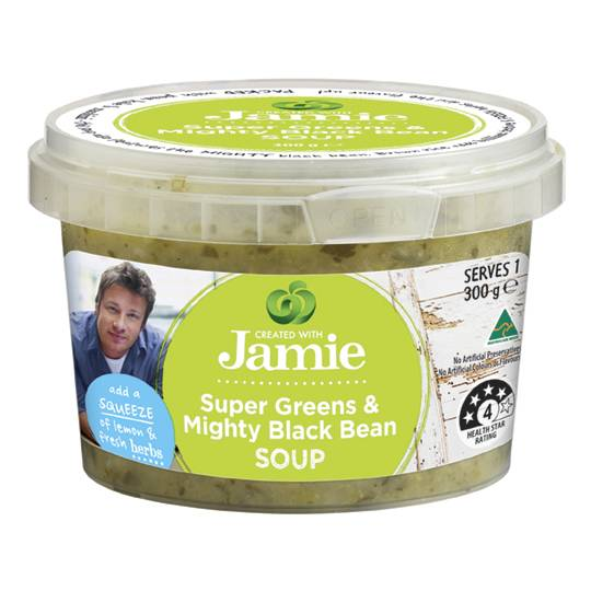 Created With Jamie Soup Super Greens & Black Bean
