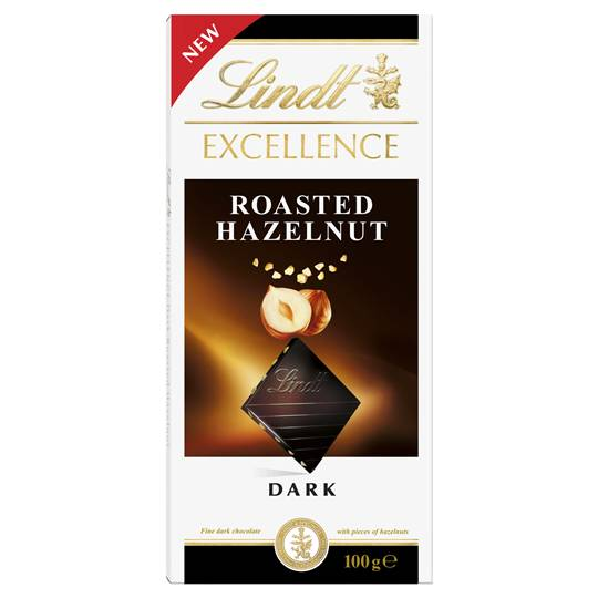 Lindt Excellence Dark Chocolate Roasted Hazelnut
