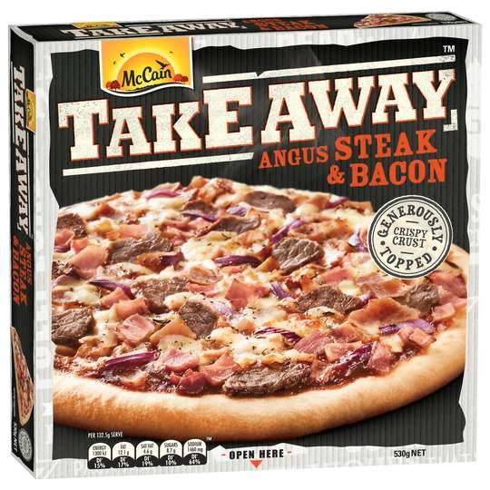 Mccain Pizza Take Away Angus & Bacon