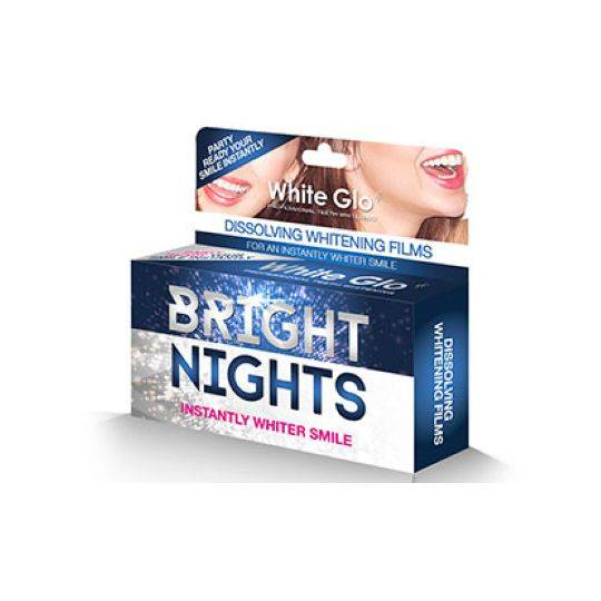 White Glo Whitening Films Dissolving Bright Night