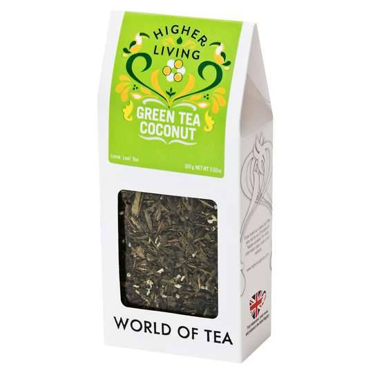 Higher Living Loose Leaf Green Tea Coconut