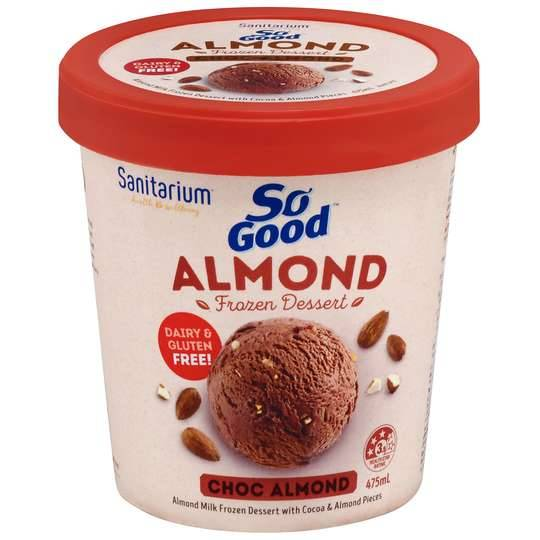 Sanitarium So Good Bliss Ice Cream Choc Almond
