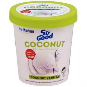 Sanitarium So Good Bliss Ice Cream Coconut Vanilla Bean