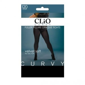 Clio Curvy Opaque Tights Fuller Figure 120d Black