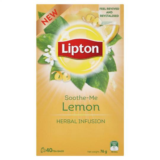 Lipton Herbal Tea Soothe Me Lemon