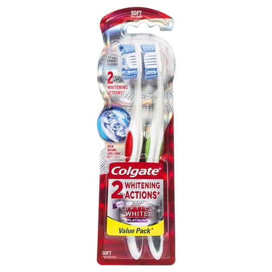 Colgate Toothbrush Optic White Platnium Soft