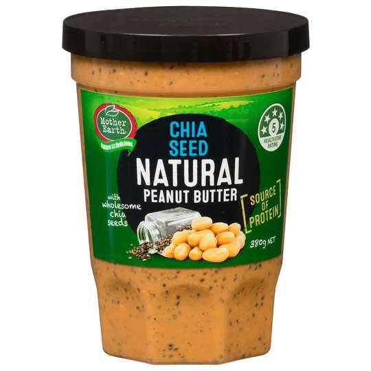 Mother Earth Peanut Butter And Chia Seed
