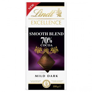 Lindt Excellence Mild Dark Chocolate 70% Cocoa Smooth Blend