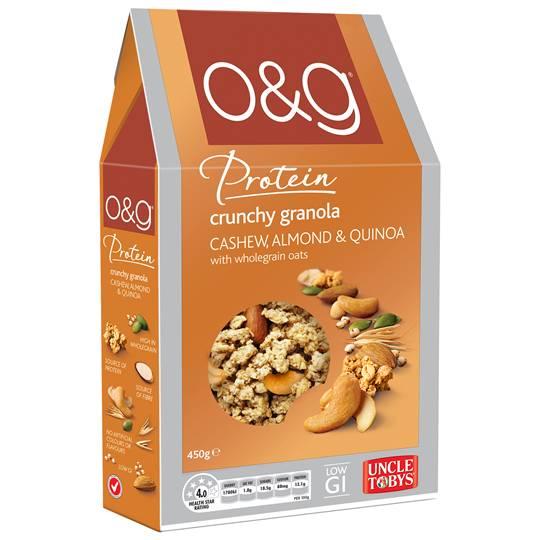 Uncle Tobys O&g Granola Cashew Almond & Quinoa