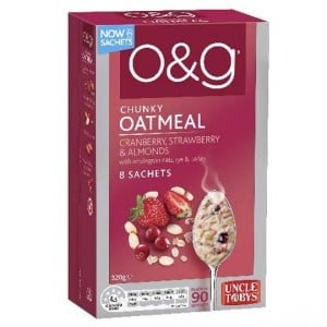 Uncle Tobys O&g Oatmeal Cranberry Strawberry & Almonds