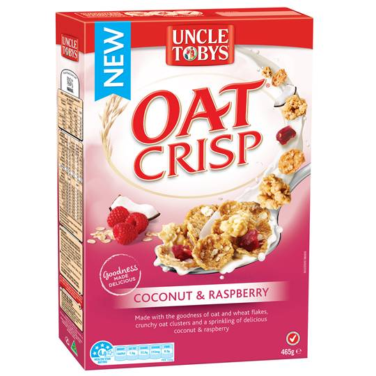 Uncle Toby's Oats Coconut & Raspberry